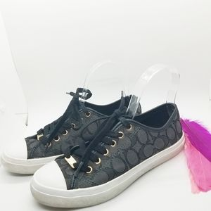Size 7.5B   Coach Empire Low Top Logo Sneakers